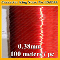 Free shipping QA-1-130 100m Red Magnet Wire 0.38 mm Enameled Copper wire Magnetic Coil Winding
