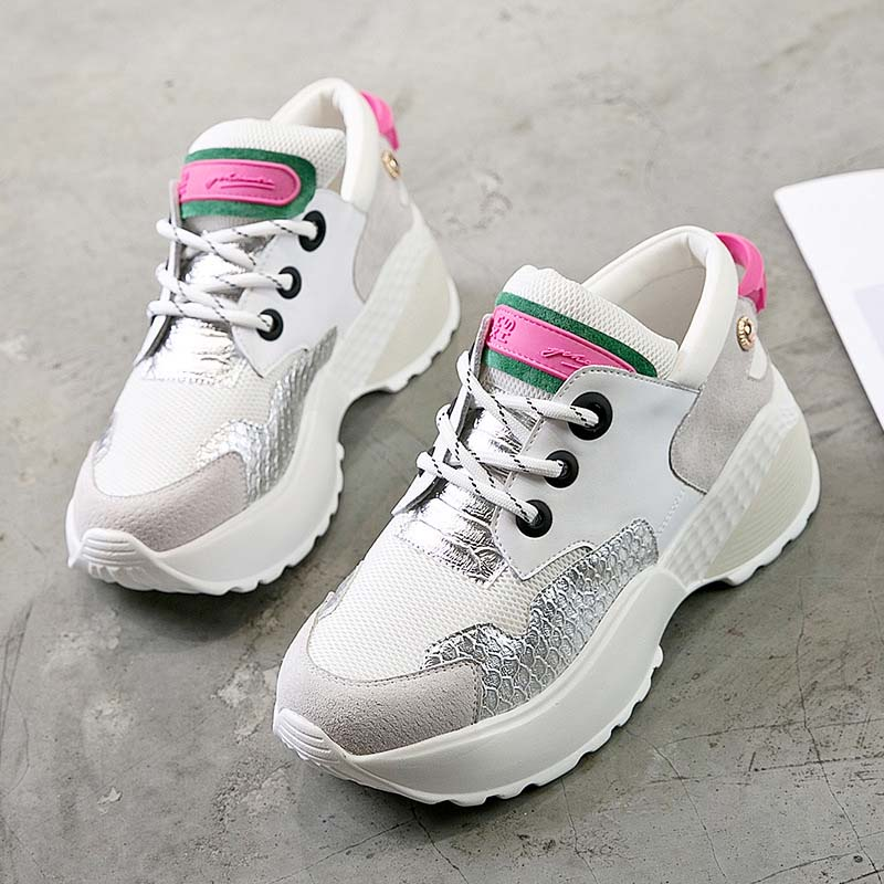 ... chaussure White Lady Platform Sneaker tied Autumn 2018 Fashion EARTH  STAR Shoes Women footware New Cross ... 443123461173