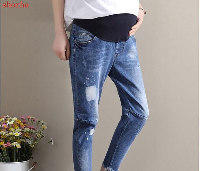 dc2b65daf82 Jeans Maternity Pants For Pregnant Women Clothes Trousers Nursing Prop  Belly Legging Pregnancy Clothing Overalls Pants sizeM-XXL