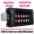 Para J/eep g/rand w/rangler 2015 patriot compass journey GPS Car Stereo Radio DVD Player suporte a Bluetooth câmera traseira