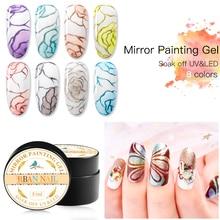 RBAN NAIL Metallic Mirror Nail Polish Set Rose Gold Sliver Gel Lacquer Soak Off UV Art Varnish Manicure