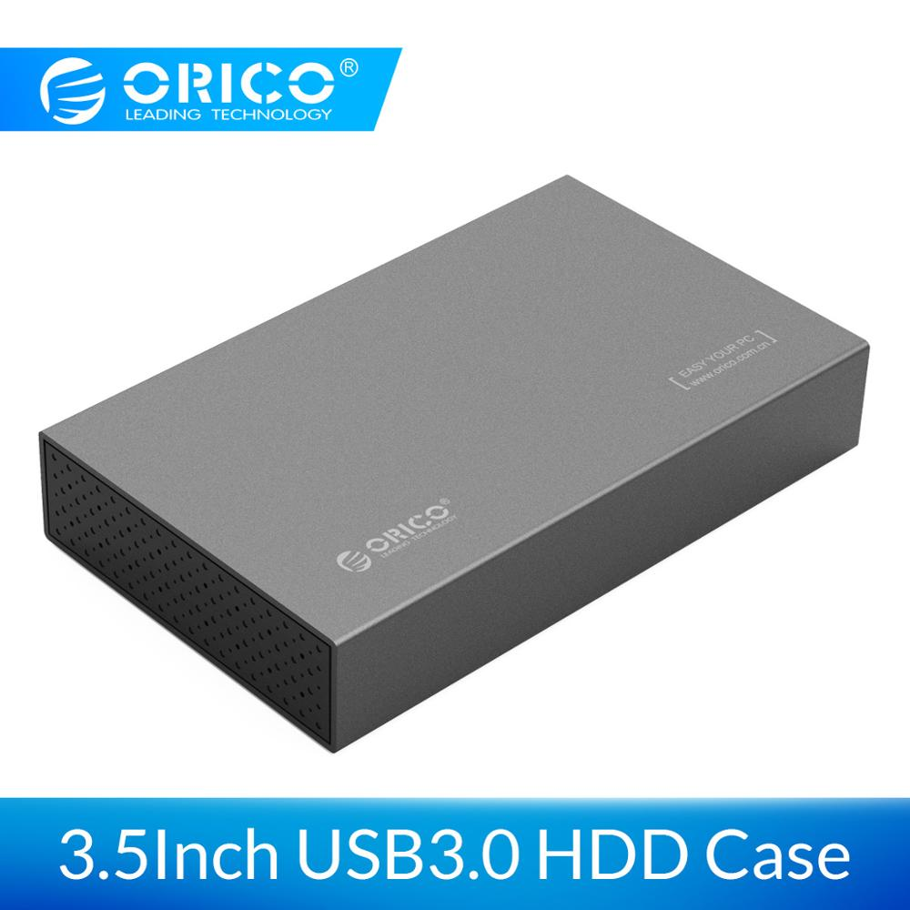 ORICO 3.5 Inch HDD Enclosure Aluminum SATA to USB 3.0 Hard Drive Enclosure for SSD Disk