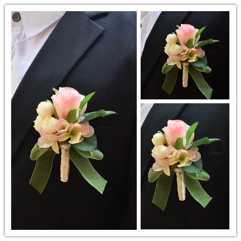 The Bride And Groom Wedding Corsage Brothers Corsages Korean Personality Creative Guests In Artificial Dried Flowers From