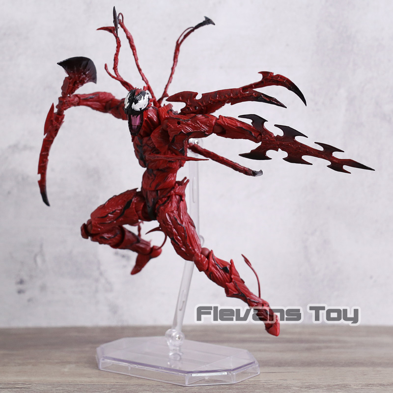 Revoltech Series NO.008 Carnage The Amazing Spider-Man Cletus Kasady PVC Action Figure Collectible Model Toy the superior spider man volume 3 no escape