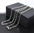 2.4mm (0.6mm)Stainless Steel Cross Cable Chain With Lobster Clasp Thin and Tiny Chains for Women Basic Chain