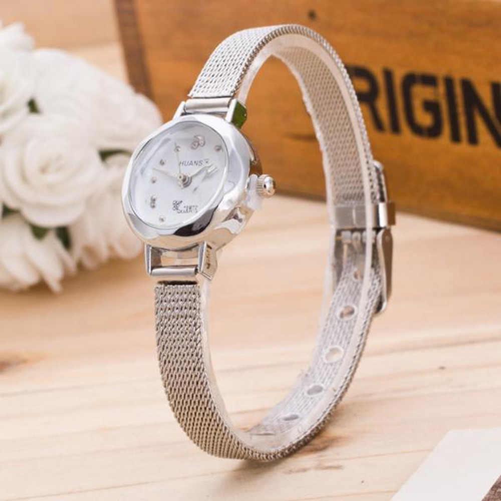 חדש סגנון montre femme קוורץ שעון נשים גבירותיי slim נירוסטה Mesh להקת שעון יד נשים שמלה שעון נשים relojes # 0l