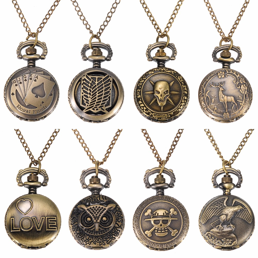 Fashion Retro Bronze Vintage Pattern Pendant Chain Quartz Skull Face Punk Unisex Pocket Watch Men Women Gifts Antique Watches durable fashion pocket watch chain quartz watch vintage retro bronze quartz pocket watches