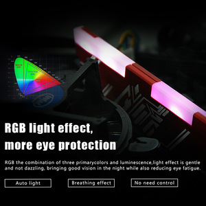 Image 2 - Reeinno RGB ram DDR4 8GB frequency 2666MHz 1.2V 288pin PC4 19200 CL=19 19 19 43 for PC game ram Lifetime Warranty Desktop memory