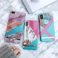 Vintage Geometric Marble Phone Cases For IPhone 6 6S Plus Bring Glitter Hard PC Back Cover