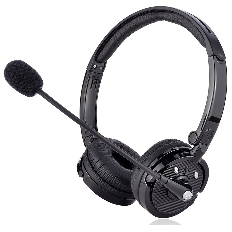 Bluetooth Noise Cancelling Headphone With Boom Mic On Ear Phone Headset For Truck Driver Office Call Center Ps3 Gaming Earphone Bluetooth Earphones Headphones Aliexpress
