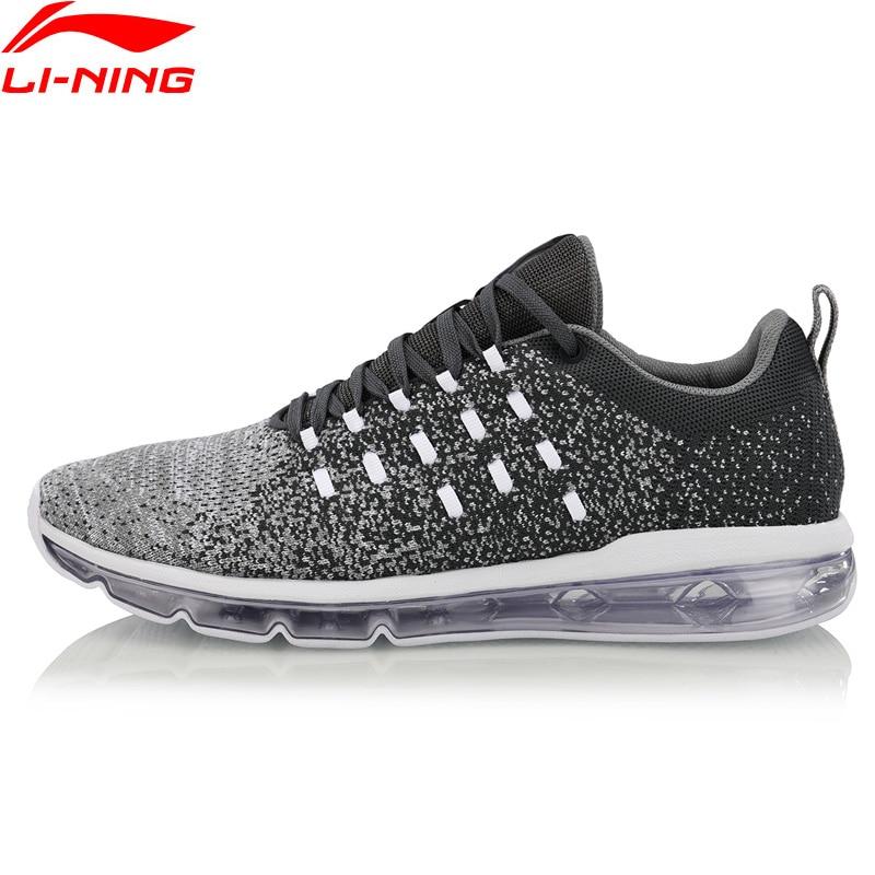Li-Ning/Мужская прогулочная обувь с пузырьками, амортизация, моно-пряжа, дышащая подкладка, спортивная обувь для фитнеса, кроссовки, AGCN073 XYP756
