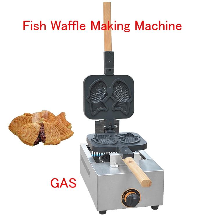 Fish Waffle Making Machine Taiyaki Baker Mini Household Donut Maker Fish cake pancake machine FY-1105.R stainless steel mini manual donut maker machine cake donut hopper with stand commercial household donut molding machine t 03