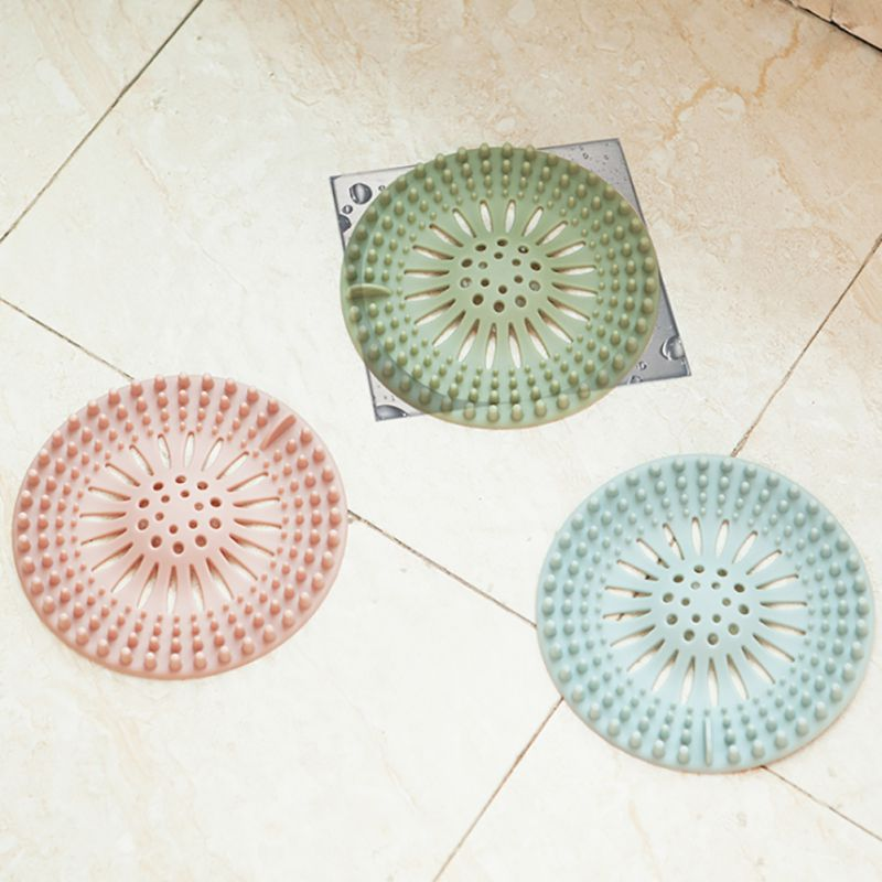 Hair Stopper Floor Drain Mat Silicone Shower Drain Covers Sink Strainer Filter for Bathroom and Kitchen 2018 YH 460614 in Hair Stoppers Catchers from Home Garden