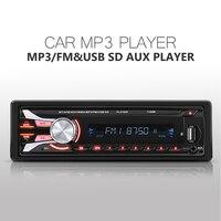 New FM Car Radio 12V Bluetooth V2 0 Detachable Front Panel Auto Audio Stereo SD MP3
