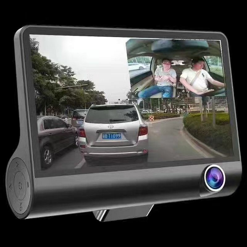 4 Inch 1080P Full HD Car DVR Dash Camera 170 Degree Wide Angle Video Recorder With Rear View Camera G sensor Auto Driving Camera-in DVR/Dash Camera from Automobiles & Motorcycles