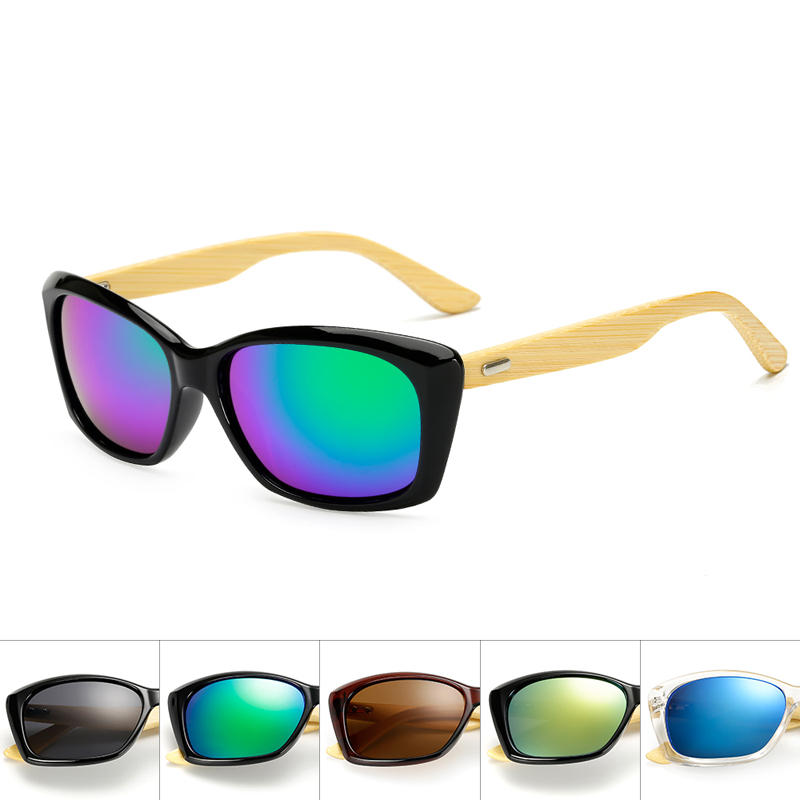 Men's Glasses Apparel Accessories Modest Original Wooden Bamboo Sunglasses Men Women Mirrored Uv400 Sun Glasses Real Wood Shades Gold Blue Outdoor Goggles Sunglases Male Pleasant In After-Taste