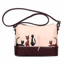 Женская сумка на плечо из искусственной кожи с кошкой на молнии, сумка через плечо, высокое качество, сумочка-кошелек, сумка-мессенджер, Прямая поставка