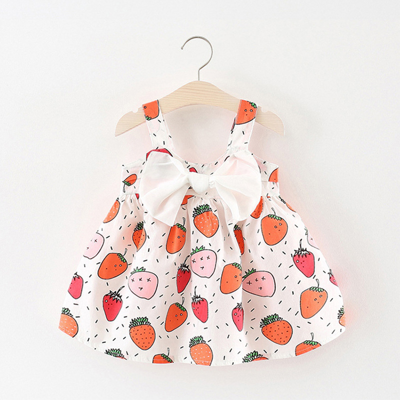 Fashion printing Infantil Baby Girl dress summer Party Cute Princess sleeveless Print Dress 0-24M baby girls clothes