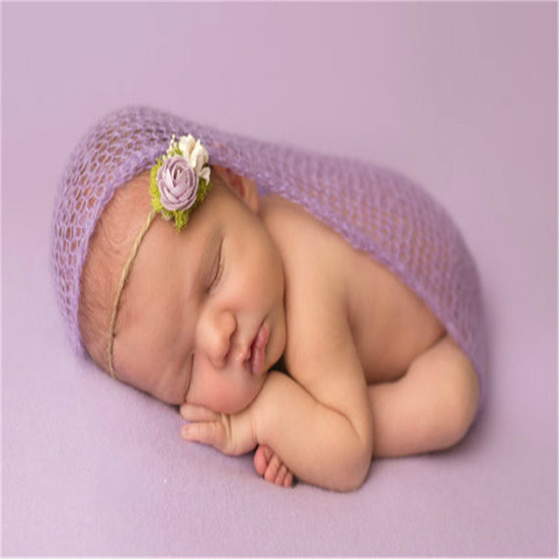 1Pcs Newborn Photography Wraps Handmade Hammock Mohair Baby Photo Accessories Baby Photo Props ScarfShoot Accessories 40*60cm