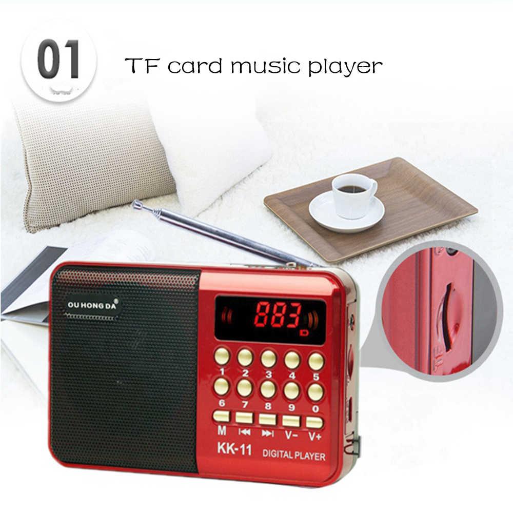 Radio sans fil haut-parleurs Portable FM Radio lecteur de musique numérique Mini Radio multifonctionnel FM enregistreur sonore insérer carte RADk11