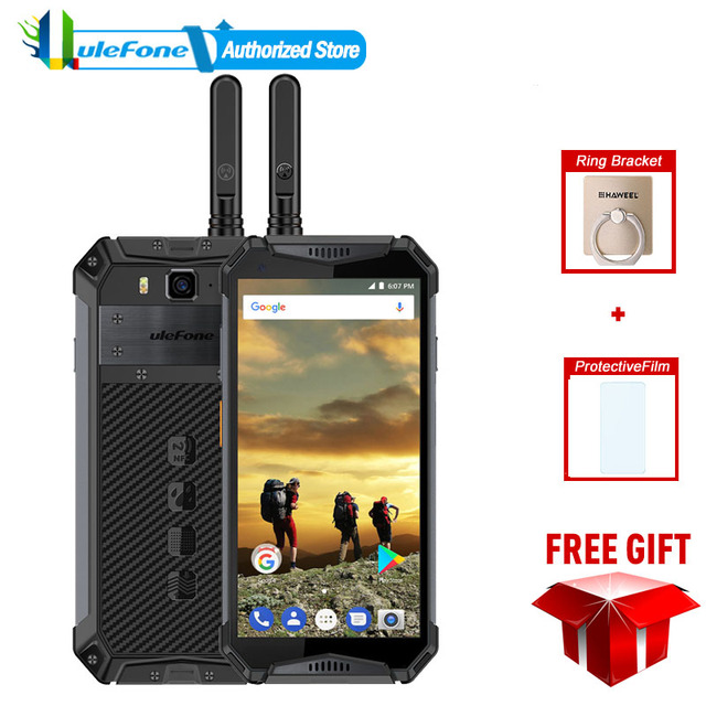 Ulefone Armor 3t 10300mAh Walkie Talkie Smartphone IP68 Waterproof Mobile Phone Android 8.1 5.7inch 21MP MT6763T Octa Core NFC