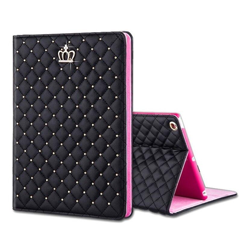 Luxury Bling Crown Case for Funda iPad Air 1 Air 2 Case Flip Stand Funda for iPad Air 1 2 for iPad 2 3 4 Case Luxury 9.7''