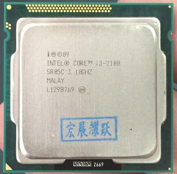 ПК Intel Core i3-2100 i3 2100 процессор (3 МБ кэш, 3,10 ГГц) LGA1155 настольный процессор 100% рабочий процессор