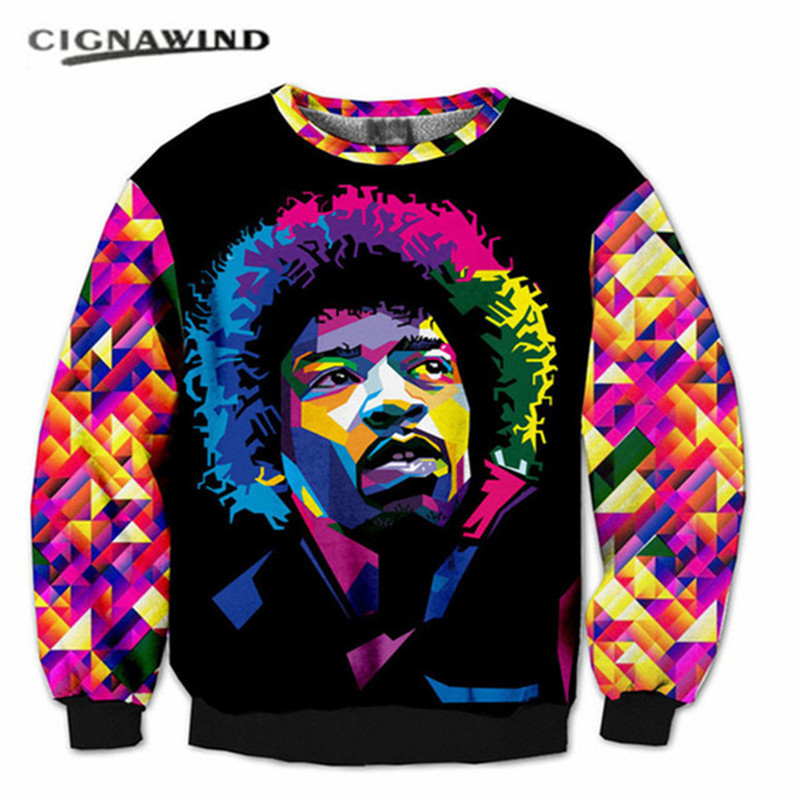 Nuevo hip hop Jimi Hendrix Psychedelic colores 3D impreso sudaderas hombres  mujeres casual moda hoodies manga larga streetwear tops dd1ae4b189a