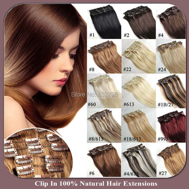 Big Discount Clip In On Hair Extensions Long 18inches 45cm 7pcslot