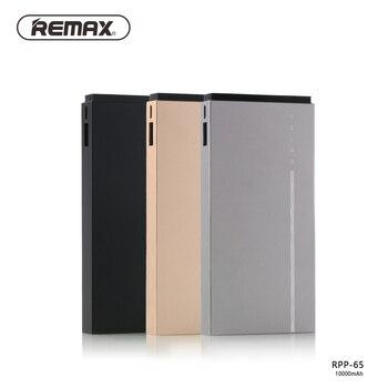 Slim 10000 mAh Remax Portable Ultra-thin Polymer Metal Alloy Powerbank battery Dual USB Port Power Bank Universal RPP-65 usb battery bank charger