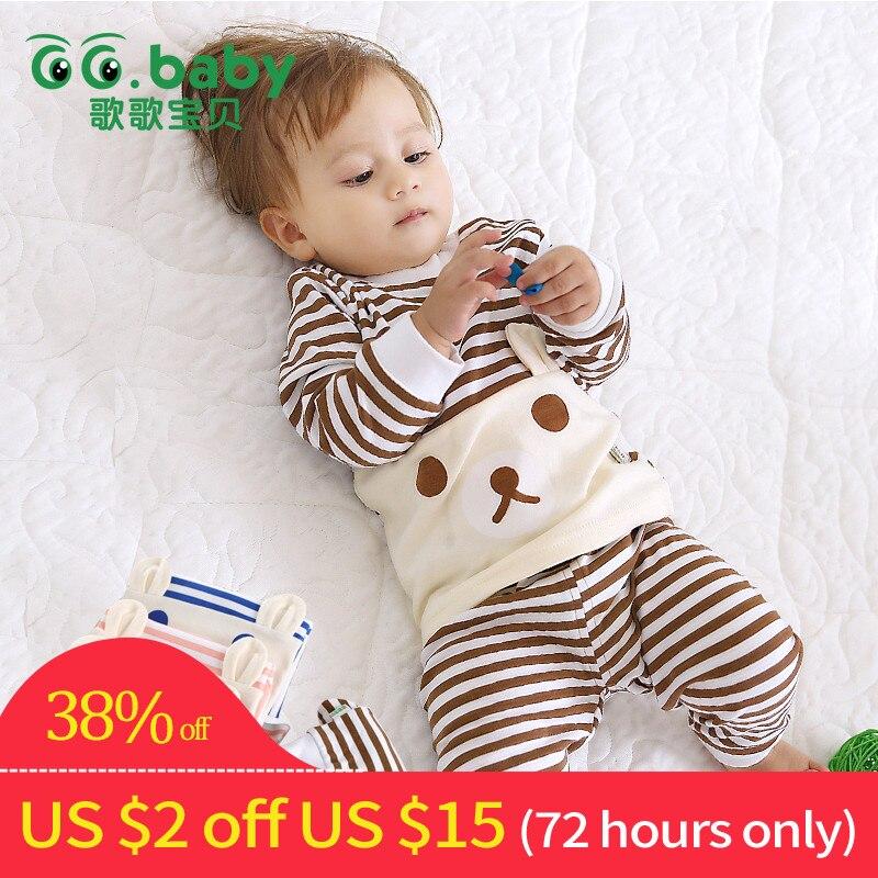 Cotton Baby Boy Girl Clothing Pajamas Sets Autumn Winter Newborn Clothes Set For Babies Boy Clothes Suit(Shirt+Pants)Infant Set стоимость