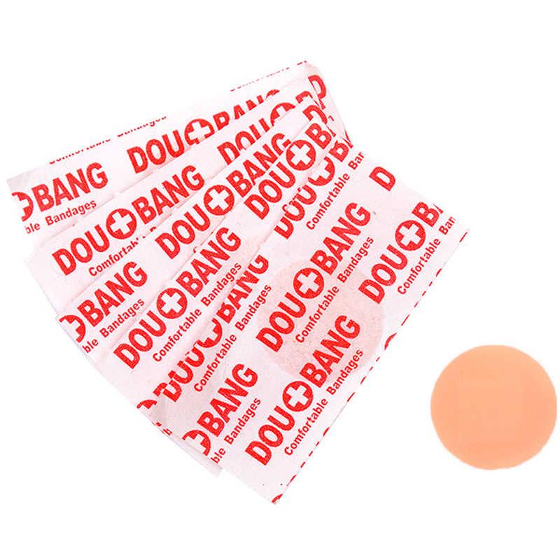 10 stks/partij Ronde Band Aid Wond Gips Steriele Hemostase Stickers Ehbo Waterdicht Healing Wonden Lijm Bandage