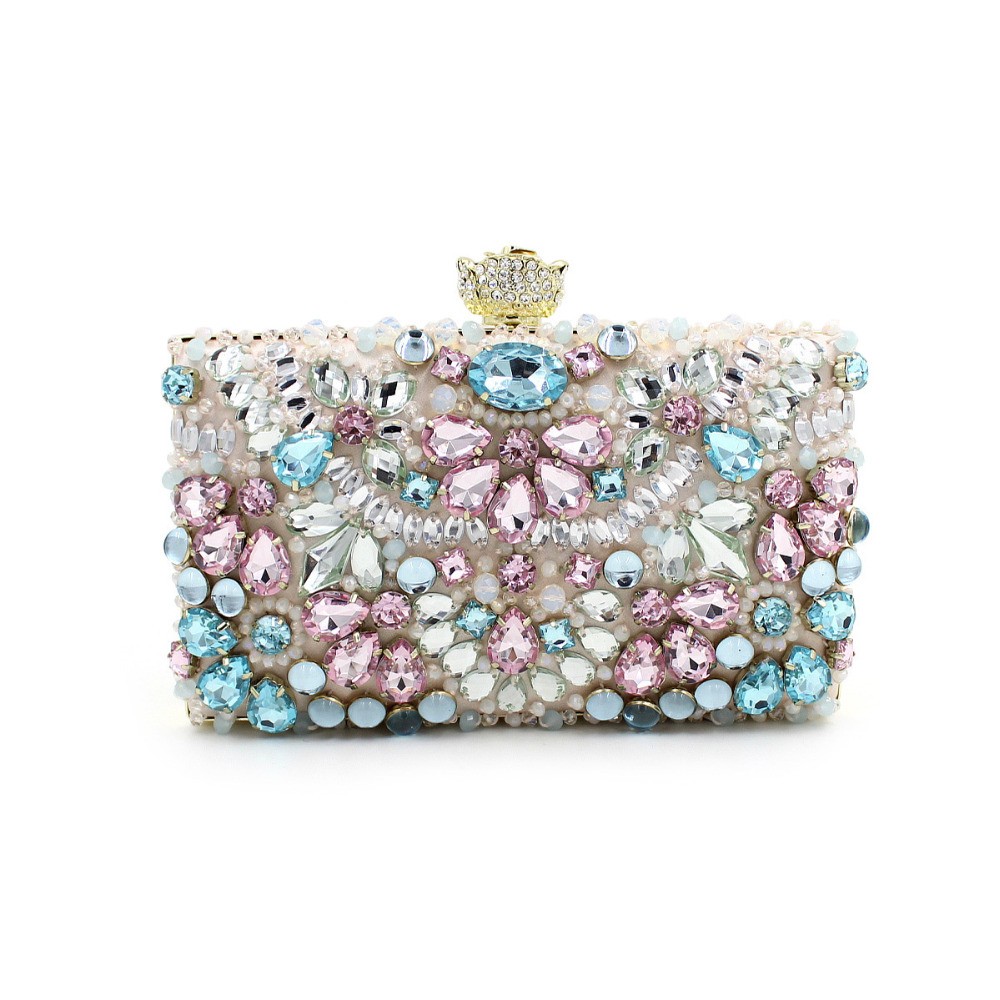 Moccen Women Bag Beaded Evening Handbag Luxury Handbags Designer Evening  Clutch Purses And Handbags Wedding Party Clutches-in Evening Bags from  Luggage ... c761ded948475