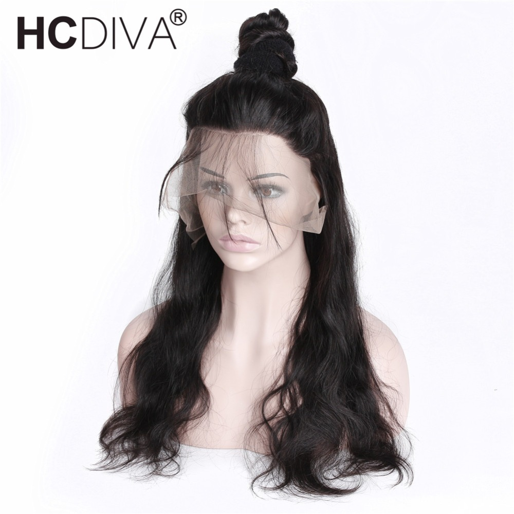 Lace Front Human Hair Wigs For Women Indian Body Wave Remy 13X4 Lace Frontal Wig Pre Plucked With Baby Hair Average Size HCDIVA
