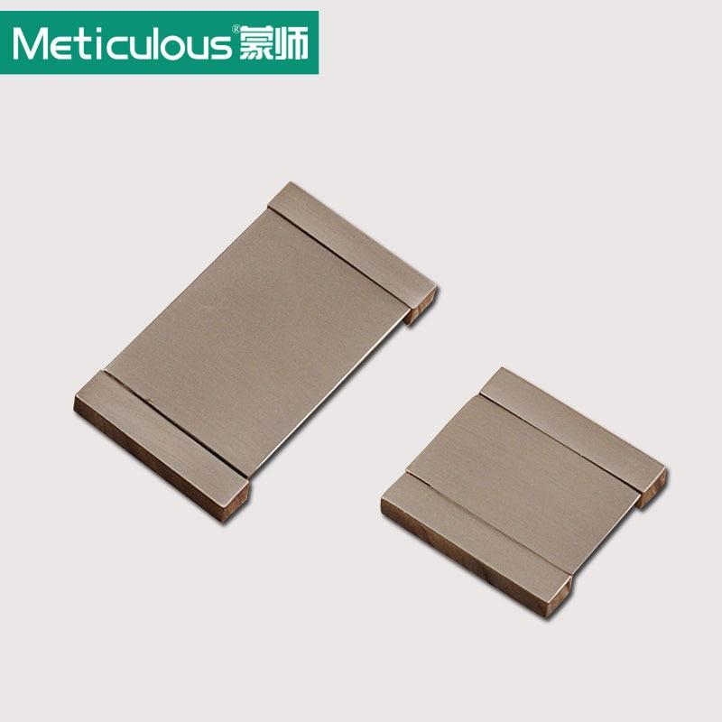 Online Shop Meticulous Hidden Cabinet Pulls Furniture Concealed Handles  Aluminum Recessed Drawer Knobs Flush Sliding Modern Zinc Alloy | Aliexpress  Mobile