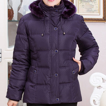 2017 In the elderly cotton short paragraph thick coat mother installed down jacket