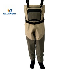 ELUANSHI High quality portable chest fishing overalls pants breathable stocking foot waders respirant boots for men tackle