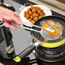 Stainless Steel Fried Food Net Folder Oil Drain Clip Handheld Colander Filter Mesh Spoon for kitchen cooking tools fry 28*10cm