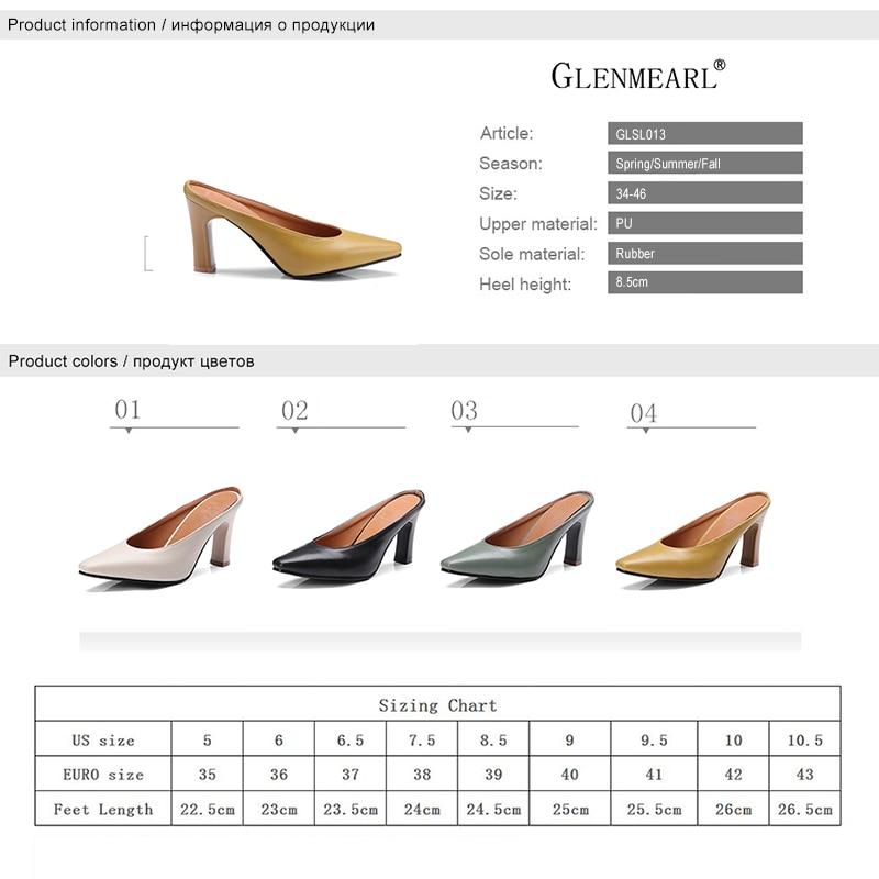 Zapatillas de mujer de cuero Zapatos de tacones altos Mules Zapatos - Zapatos de mujer - foto 6