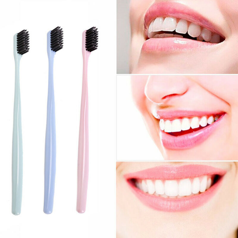 10Pcs Family Pack Nordic minimalist style Wheat Straw Bamboo Charcoal Soft Toothbrush Eco-Friendly Oral Clean cheap image