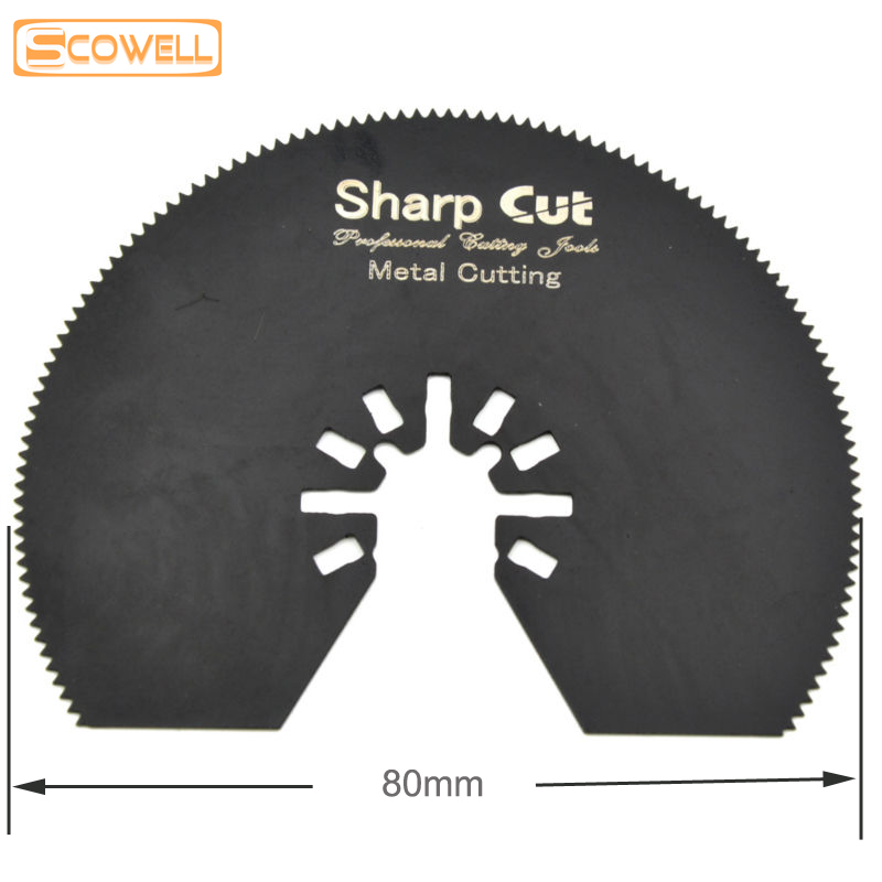 30% OFF 80mm HSS Multimaster Power Tools Accessories Saw Blades For Oscillating Multi Tools Soft Metal Cutting Diameter 80mm