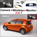 3 in1 Special WiFi Camera + Wireless Receiver + Mirror Monitor DIY Parking System For Chevy Chevrolet Optra Spark Sonic Tosca