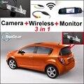3 in1 WiFi Cámara + Receptor Inalámbrico + Espejo Especial Sistema de Aparcamiento Monitor de BRICOLAJE Para Chevy Chevrolet Optra Spark Sonic Tosca