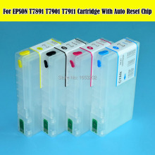 цена на The Fashion refillable ink cartridge For epsonT7891-T7894 For epson printer wf-4630/4640/5110/5190/5620/5690 with arc chip
