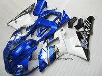 Пользовательские 100% fit впрыска обтекатели комплект для 1998 1999 YAMAHA YZF R1 98 99 синий белый обтекатель послепродажного части