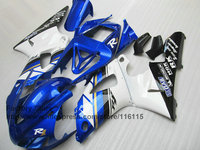 Custom 100% fit injection fairings kit for 1998 1999 YAMAHA YZF R1 98 99 blue white aftermarket fairing parts