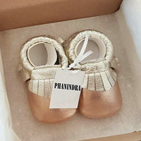 Mix Color Fringe Shine Genuine Leather Baby Shoes Tassel Baby Girls First Walkers Fashion Boys Shoes