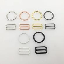 Großhandel 10 sätze/los (20 stücke) bh ringe und sliders strap teller schnallen 6 farbe unterwäsche einstellung zubehör