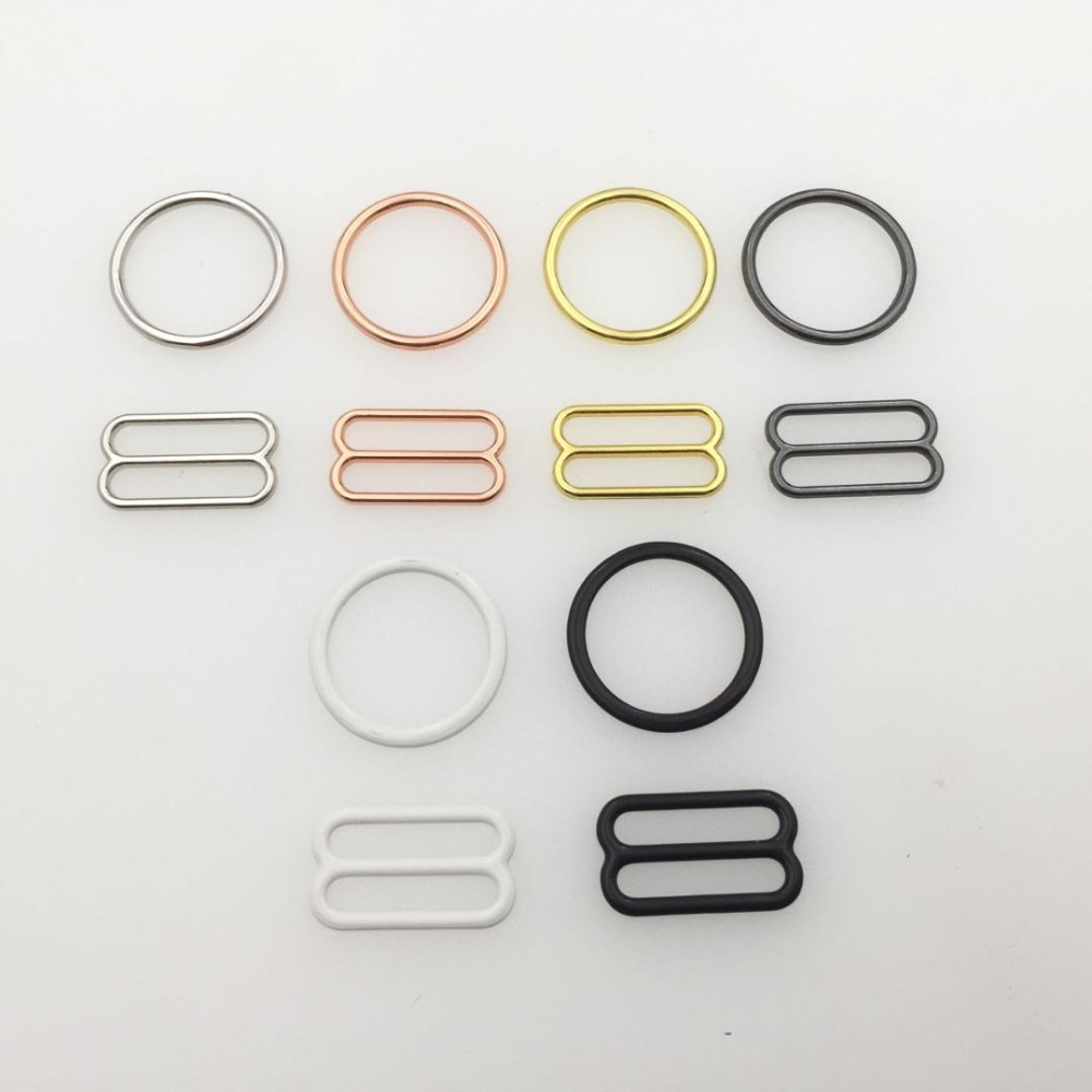 Wholesales 10 sets / lot (20 pcs) bra rings and sliders strap adjusters buckles 6 color underwear adjustment accessories