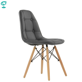 95287 Barneo N-43 Eco-Skin Wood Kitchen Breakfast Interior Stool Bar Chair Kitchen Furniture Gray free shipping in Russia